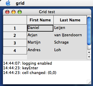 Grid demo on MacOS X (Panther)